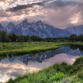 Tetons by Dave Bower - Landscapes Mountains & Hills