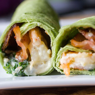 Garlic Shrimp, Spinach and Bacon Wrap
