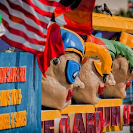 Masked by Tom Whitney - City,  Street & Park  Historic Districts ( colorful, daytona beach, masks, the beach, arcade )