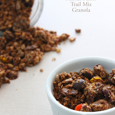 Peanut Butter Trail Mix Granola