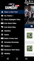 Screenshot of Patriots Gameday Live