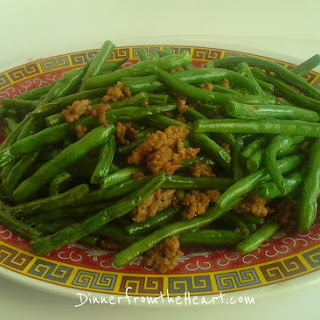 Chinese Dry Braised Green Beans with Pork