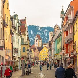 Füssen, Munich by Roberto Gonzalo - City,  Street & Park  Vistas ( munich, füssen )