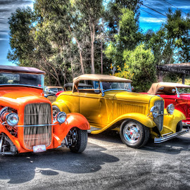 Ready To Run by Jebark Fineartphotography - Transportation Automobiles ( car, deuce, roadster run, hdr, automobile, ragtop, roadster, 1932, hot rod, convertible )