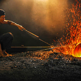 Gong maker... by Syarif Rohimi - People Portraits of Men (  )