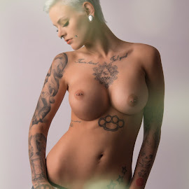 Tension by Tomas Fensterseifer - Nudes & Boudoir Artistic Nude ( topless, jeans, tattoo, boobs )