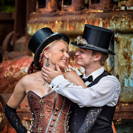 SteamPunk Couple  by Dragan Rakocevic - People Couples