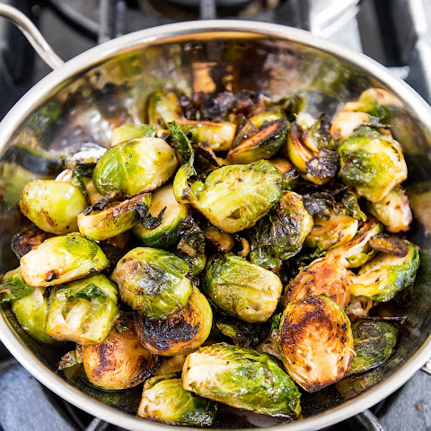 Pan Fried Brussel Sprouts with Ghee