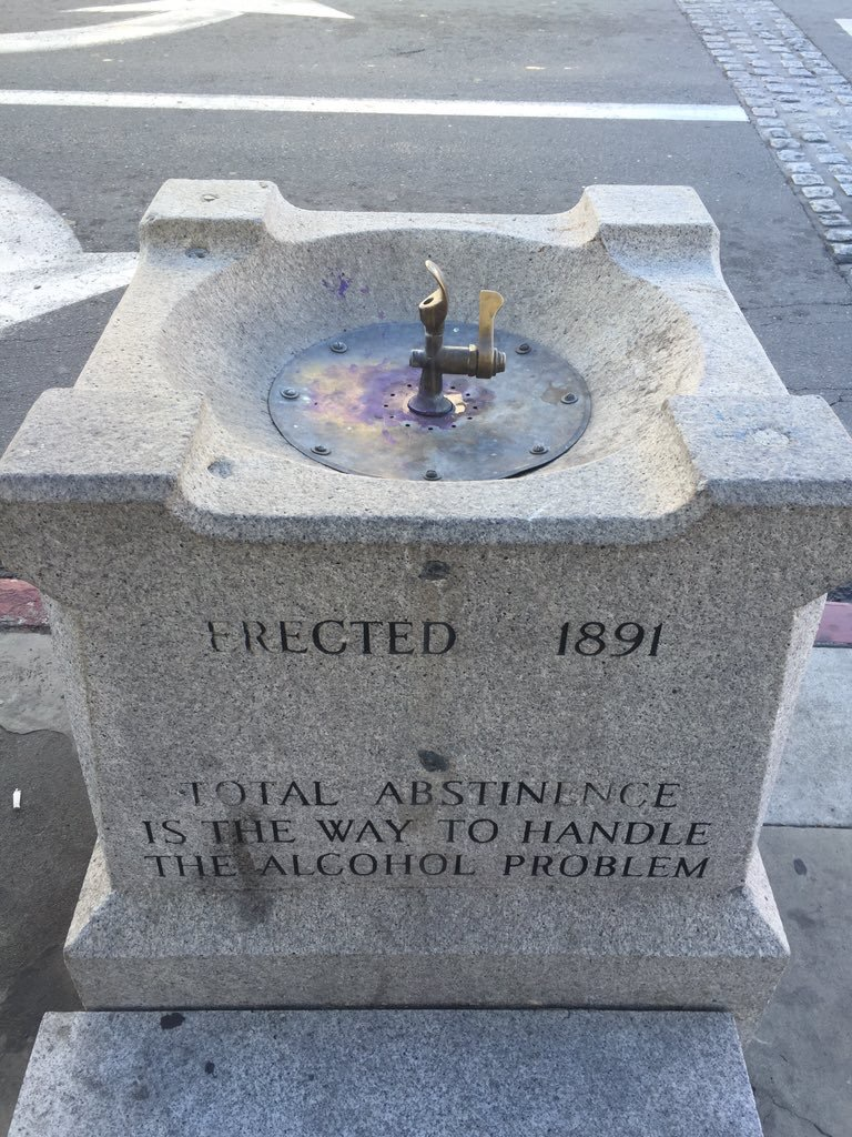 ERECTED 1891 TOTAL ABSTINENCE IS THE WAY TO HANDLETHE ALCOHOL PROBLEM   Submitted by @RaminRahimian. Here's that public water fountain in do Article about the fountain from Sonoma Library.   99 ...