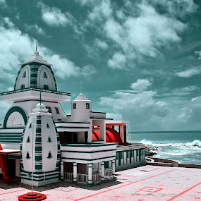 ::...Indian Temple...:: by Avinash Lodhi - Buildings & Architecture Public & Historical ( water, clouds, temple, india, avi )