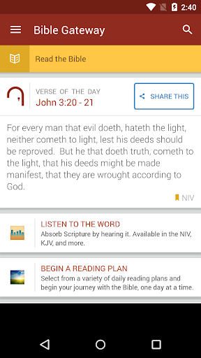 Bible Gateway screenshot 1