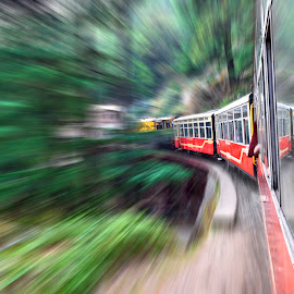 Moving on.. by Aritra Nath - Novices Only Abstract ( indian, train, transportation, shimla, travel photography )