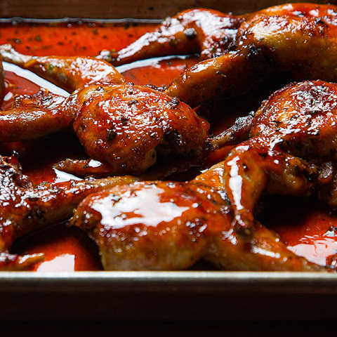 Grilled Quail with Red Chile Honey