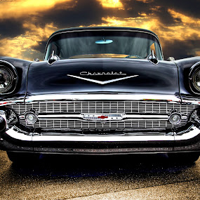 Hoyt's '57 Chevy II by JEFFREY LORBER - Transportation Automobiles ( atlanta concours, bel air, classic car, 1957, chevrolet, lorberphoto, lorber, chevy, classics and coffee, car photo,  )