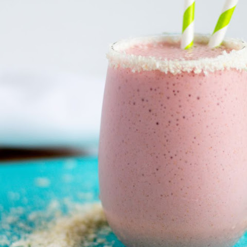 Coconut Strawberry Protein Shake