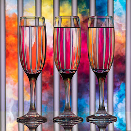 Touch of Picasso by Rakesh Syal - Artistic Objects Glass