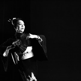 Geisha by Joni Chng - People Musicians & Entertainers ( geisha, stage performance, japanese, dancer )