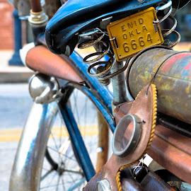 Enid Okla 6664 by Eva Ryan - Transportation Bicycles ( old, wheel, oklahoma, vintage, bicycle,  )