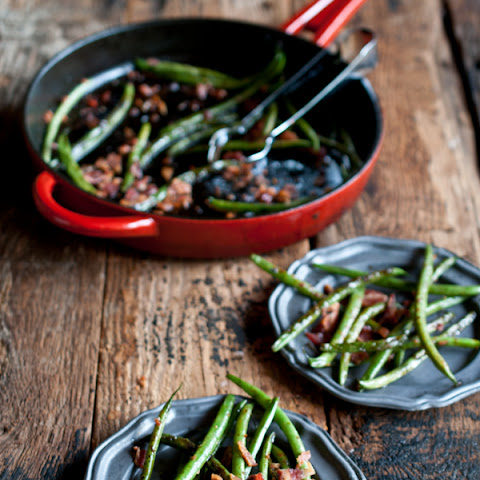 Green Beans with Bacon and Beer Glaze