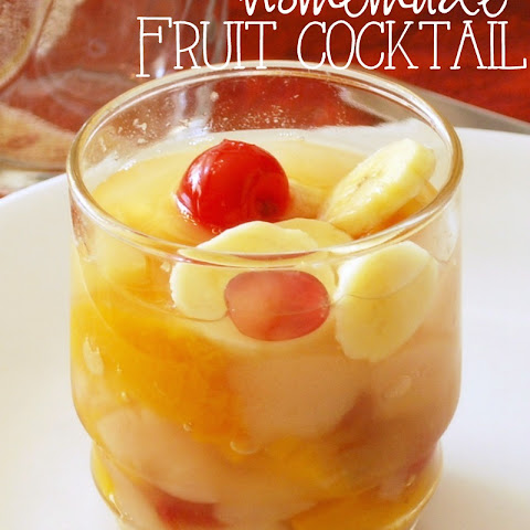 Homemade Fruit Cocktail