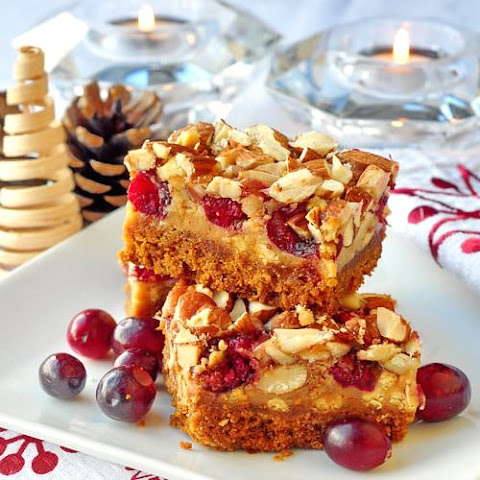 Cranberry White Chocolate Magic Cookie Bars