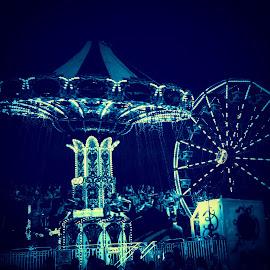 Blue Dream by Solomen Flewellen - City,  Street & Park  Amusement Parks