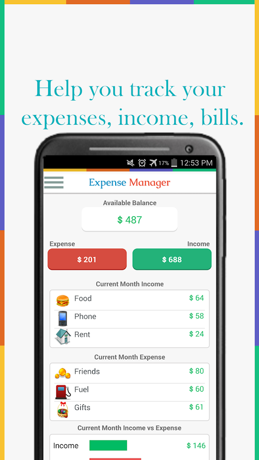 Expense Manager - My Budget Screenshot