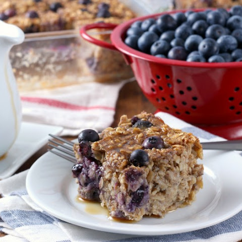 Blueberry Banana Bread Baked Oatmeal
