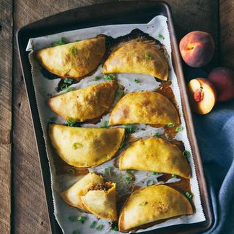 Sweet & Spicy Peach and Sausage Empanadas