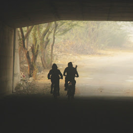 The Road Less traveled  by Rohit Arora - Sports & Fitness Fitness ( friends, peaceful, biking, cycling, friendship, india, delhi )