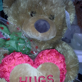Teddy sending Hugs  by Terry Linton - Artistic Objects Toys (  )