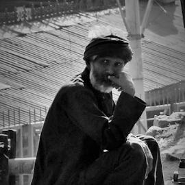 Charmseller by Agya Singh - People Portraits of Men ( fakir, india, roadside )