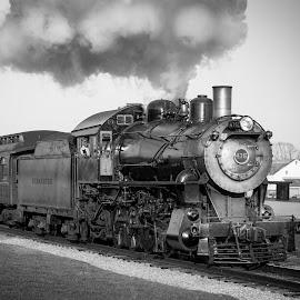 Strasburg 475 by Ed & Cindy Esposito - Transportation Trains ( amish, lancaster county, farms, train, tracks, smoke )