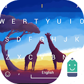 Free Giraffe in Sunset Typany Theme APK for Windows 8