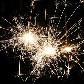 Sparklers. A symbol of celebration.  by Bundle of Fun . - Public Holidays Other