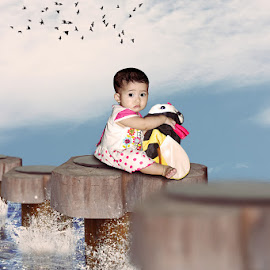 The Little Baby by Achmad Dwi Saputro - Digital Art People ( photomanipulation, creative, digital art, digital imaging, photography )