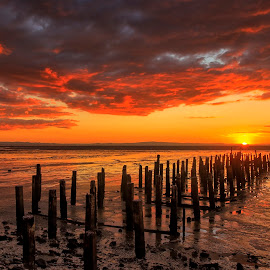 thames wharf by Johan Koch - Landscapes Sunsets & Sunrises ( thames, wharg )