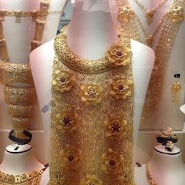 Gold Bib! by Dawn Simpson - Artistic Objects Jewelry ( gems, dubai, gol, jewels, bib, encrusted,  )