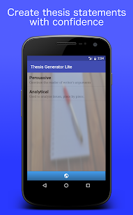 Thesis Generator Lite - screenshot