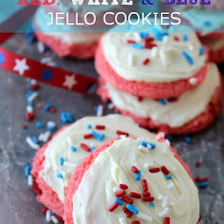 Red, White & Blue Jello Cookies