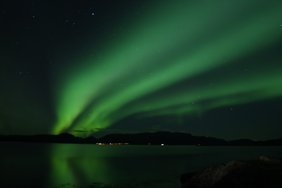 aurora boreoalis by Benny Høynes - Landscapes Starscapes ( colour, northernlight, aurora, boreoalis, sortland )