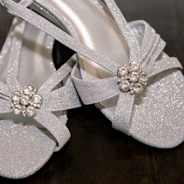 wedding shoes  by May Evelene Bester - Wedding Details ( shoes, wedding photography, wedding, silver, wedding details )
