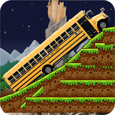 School Bus hill climb racing