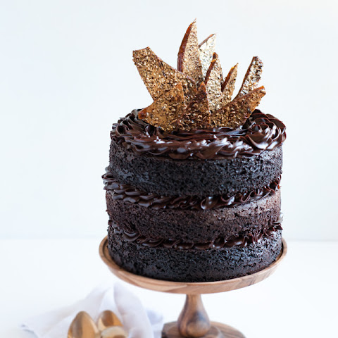 Blackout Chocolate Birthday Cake