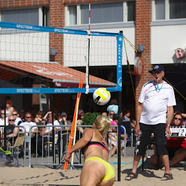 Beach volley by Simo Järvinen - Sports & Fitness Other Sports ( female, beach volley, summer, sport, game, women, outside )