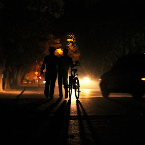 Walk Down the Lane by Debajit Bose - News & Events World Events ( night )