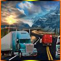 Bumpy Road Cargo Truck Driving