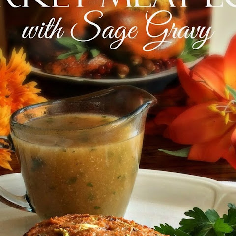 Turkey Meat Loaf with Sage Gravy