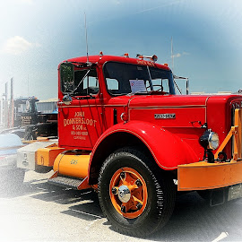 Old Red by Sue Delia - Transportation Other ( old, red, truck, restored, antique,  )