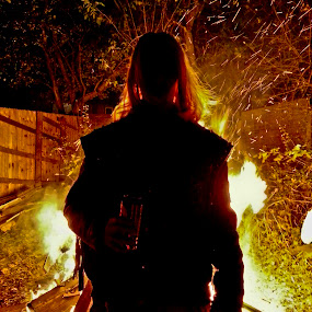 Guy by Christian Rawlinson - People Portraits of Men ( bonfire, burnley, uk, england, burnley wood, lancashire, christian rawlinson, united kingdom, fire )